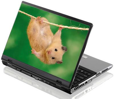Наклейка на ноутбук     Хомячок  380 x 260 мм  глянц