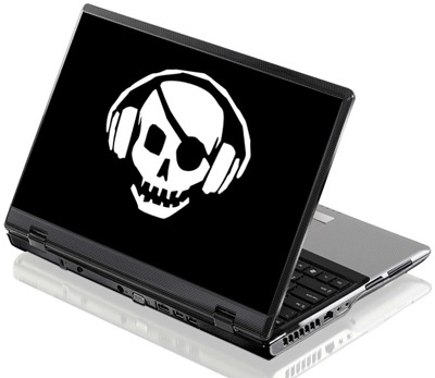 Наклейка на ноутбук     Pirate Bay   380 x 260 мм  глянц