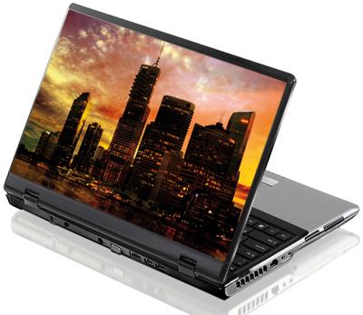Наклейка на ноутбук     Sunset sity  380 x 260 мм  глянц