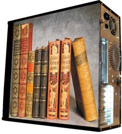 Глянцевые обои для корпуса  миди тауер     Books   Размер 48Х43