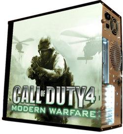 Глянцевые обои для корпуса  миди тауер     Call of Duty4   Размер 48Х43