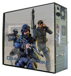 Глянцевые обои для корпуса  миди тауер     Counter Strike   Размер 48Х43