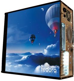 Глянцевые обои для корпуса  миди тауер     Fedora   Размер 48Х43