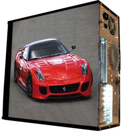 Обои наклейка на корпус компьютера midi tower  Ferrari  48Х43см  глянц