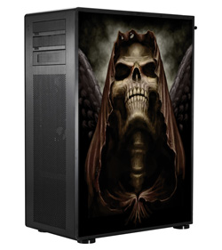 Обои наклейка на корпус компьютера Full tower Skull hood2  48 5Х65см  глянц
