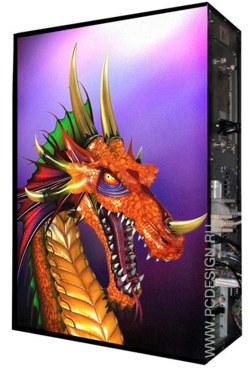 Обои для корпуса  Full тауер    Dragon  casewrap  Размер 48 5Х65