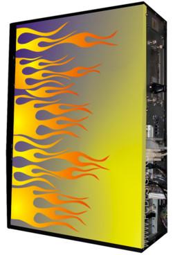 Глянцевые обои для корпуса  Full тауер    Fire1 casewrap  Размер 48 5Х65