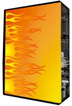 Глянцевые обои для корпуса  Full тауер    Fire23 casewrap  Размер 48 5Х65