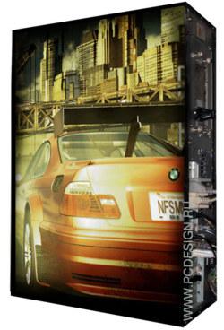 Обои для корпуса  Full тауер     Need for Speed  casewrap  Размер 48 5Х65