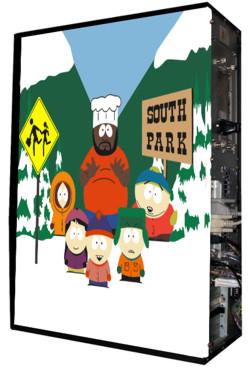Глянцевые обои для корпуса  Full тауер    South park casewrap  Размер 48 5Х65