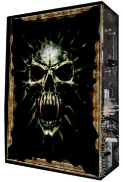 Глянцевые обои для корпуса  Full тауер   Череп Вампира casewrap  Размер 48 5Х65