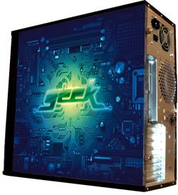 Обои наклейка на корпус компьютера midi tower  Geek  48Х43см  глянц
