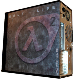 Обои для корпуса  миди тауер     Half Life 2  casewrap  Размер 48Х43