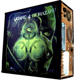 Обои для корпуса  миди тауер     Quake4 BioHazard  casewrap  Размер 48Х43