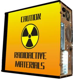 Глянцевые обои для корпуса  миди тауер     Radioactive   Размер 48Х43