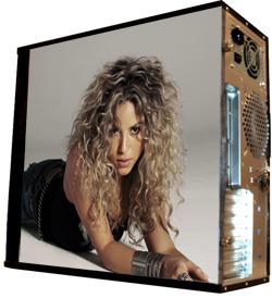 Обои наклейка на корпус компьютера midi tower  Shakira  48Х43см  глянц