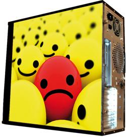 Обои наклейка на корпус компьютера midi tower RFONLINE 48Х43см глянц