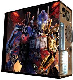 Глянцевые обои для корпуса  миди тауер    Transformers  Killer  Размер 48Х43