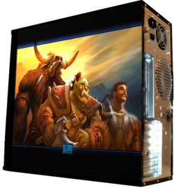 Глянцевые обои для корпуса  миди тауер    Warcraft   Размер 48Х43