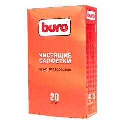 Сухие чистящие салфетки BURO  безворсовые  20 шт   3