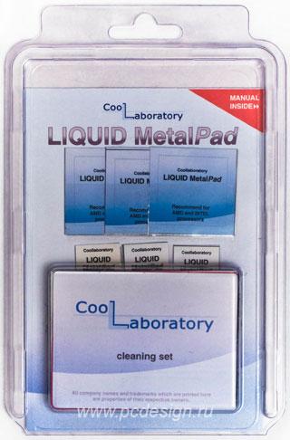 Набор термопрокладок Coollaboratory Liquid MetalPad   CPU 3шт  GPU 3 шт  и чист