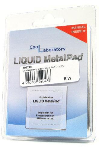 Coollaboratory Liquid MetalPad термопрокладка  для процессора  1 шт 38х38мм