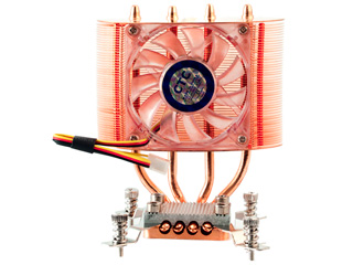 Кулер проц  с теплотрубками и вентилят  CoolerTech CT HP FC медный  LGA 775  AM2