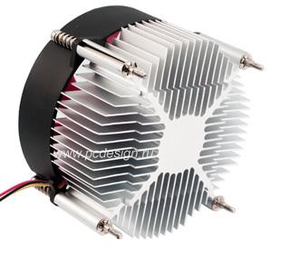 Кулер процессорный CoolerTech CTC  LGA RCAR алюм  с крас  вент  для Intel LGA775