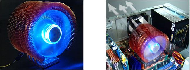 Кулер для процессора Intel S 1366 Zalman 9500 LED OEM с синей подсветкой