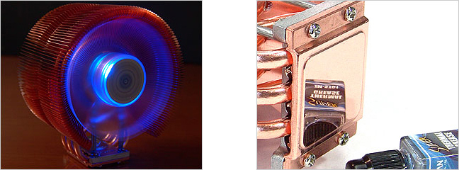 Кулер для процессора Intel и AMD Zalman CNPS9700 LED с синей подсветкой 775
