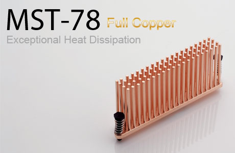 Радиатор для мосфета Enzotech MST 78 forged copper медный