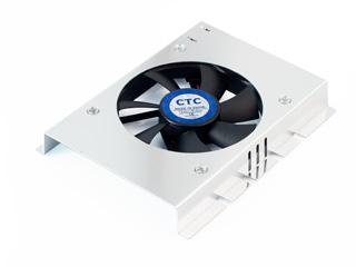 Кулер для жесткого диска CoolerTech CT HD 01 серебрист   1 вент
