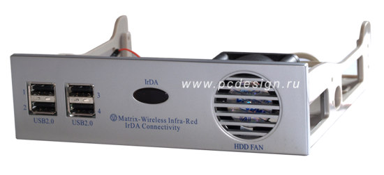 Устройство охлаж  жесткого диска  Matrix для отсека 5     серебрист   USB  Irda