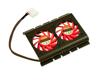 Кулер для жесткого диска XILENCE COO XPHD 2F B черн  с красн  вентиляторами