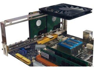 Пример использования: вентилятор 120мм х 1 шт. и 2.5 HDD х 2шт.
