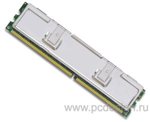 Кулер оперативной памяти  серебристый