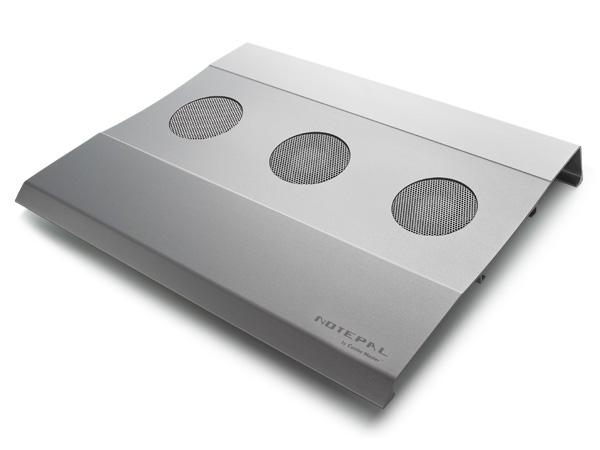 Кулер для ноутбука CoolerMaster NotePal W2 R9 NBC AWCS GP серебристый  3 вентил
