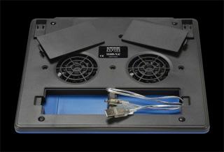 Кулер для ноутбука Revoltec Notebook Cooler RNC 1000  синий с серебр