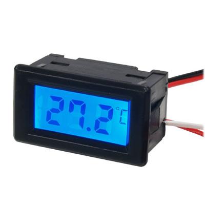 Моддерский мини термометр Kama Thermo Mini  TMmini BK черный с синей подсветкой