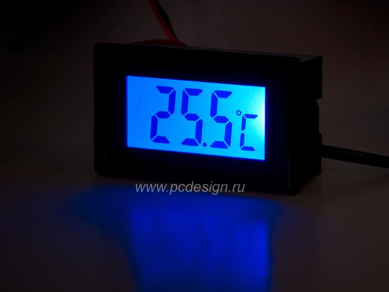 Моддерский термометр Kama Thermo TM02 BK черный с синей подсветкой