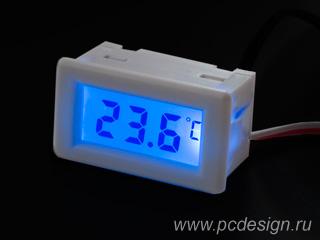 Моддерский мини термометр Kama Thermo Mini TMmini WH белый с синей подсветкой