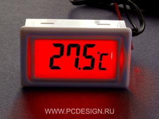 Моддерский цифровой термометр  с красной подсветкой