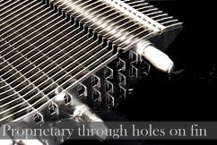 Запатентованный дизайн со сквозными отверстиями в ребрах для вентиляции
