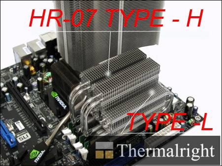 Кулеры для оперативной памяти HR 07 Duo  2 шт   TYPE L с теплотрубками  низкий