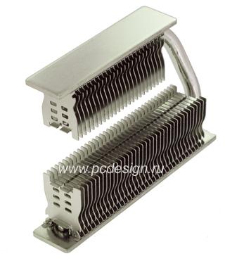 Кулер для мосфета Thermalright HR 09 S type 1 Mosfet Cooler  наклонный