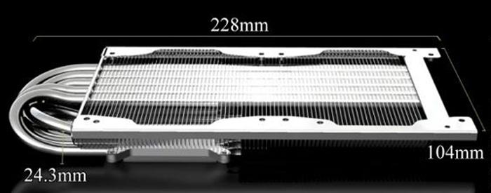 Радиатор плоский для видеокарты T Rad2   nVidia и ATI