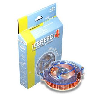 Комплект охлаждения Vantec ICEBERQ4 для VGA  подш   синяя подсветка  медь