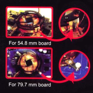 Набор  медный VGA кулер красно синей подсветкой и 8 медных радиаторов для BGA