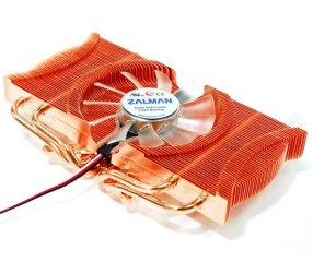 Кулер для видеокарты Zalman VF1000 LED медный с синей подсветкой