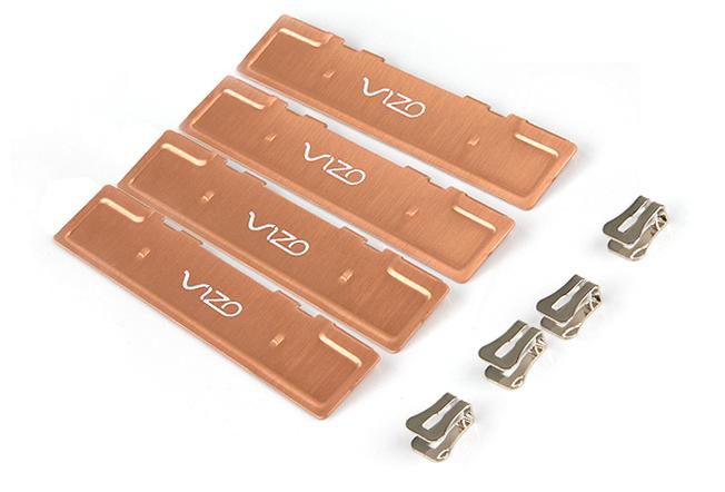 Набор из двух медных кулеров оперативной памяти Vizo DDR CPR TW